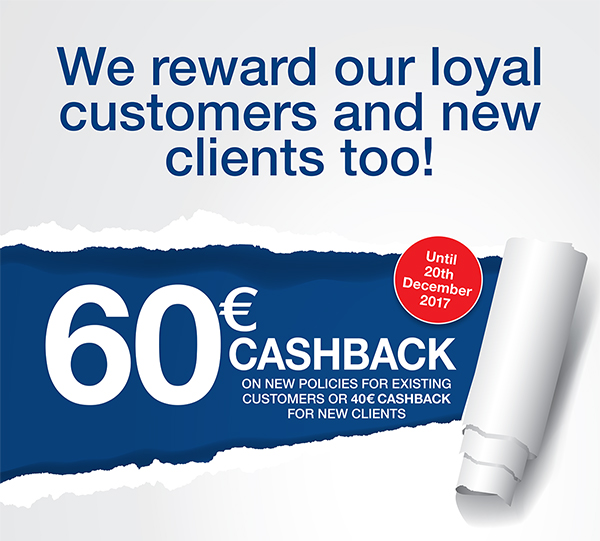 turner insurance €60 cashback offer october november december javea costa blanca