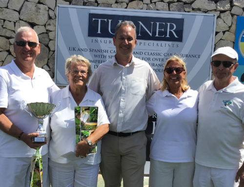 Turner Insurance Specialists Sponsor Javea Green Bowls Club Competition